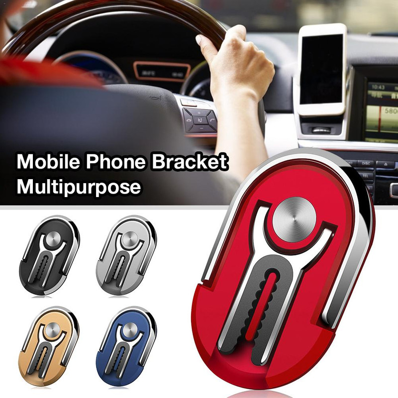 2 In 1 Universal Multipurpose Mobile Phone Bracket Holder Stand 360 Degree Finger Ring Car Phone Mount Stand Air Vent For iPhone