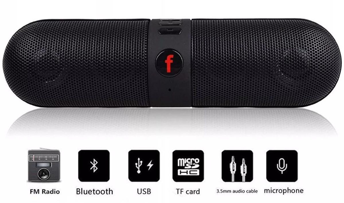 Rednix Pill Speaker Wireless Active Extra Bass Capsule Bluetooth Stereo Speaker For All Bluetooth Device.