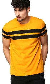GRABIN Attractive Yellow colour T-shirt for Men's