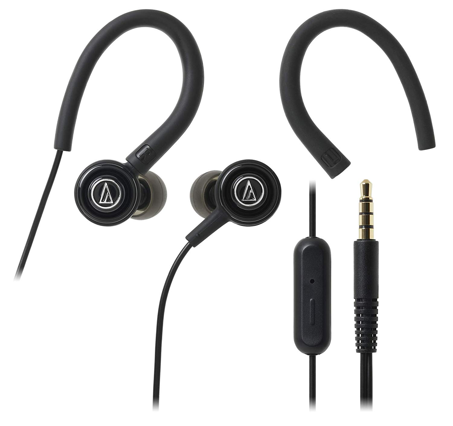 Audio Technica ATH COR150iS BK Wired Headset with Mic (Black, In the Ear)