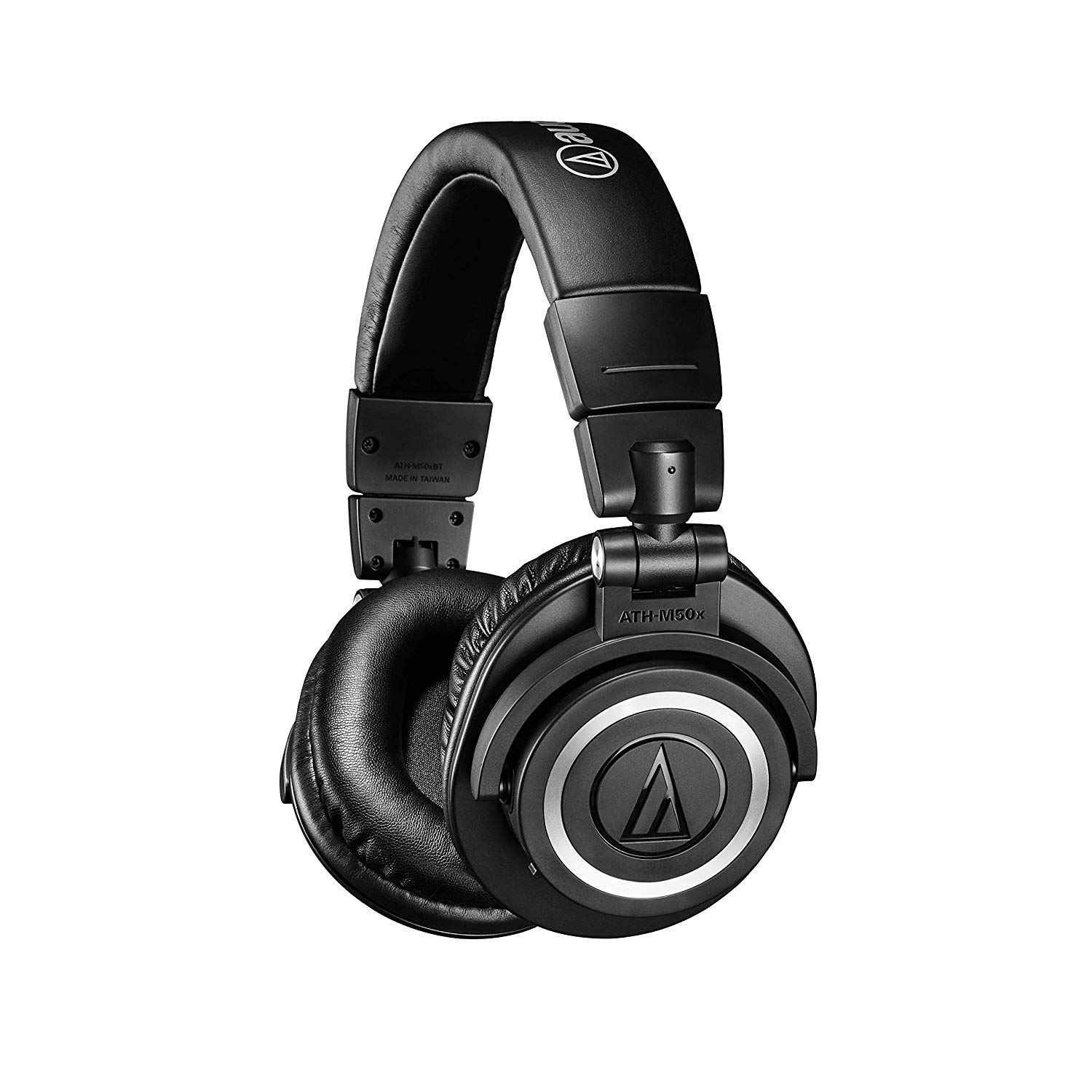 Audio Technica M50XBT Bluetooth, Wired Headset with Mic (Black, Over the Ear)