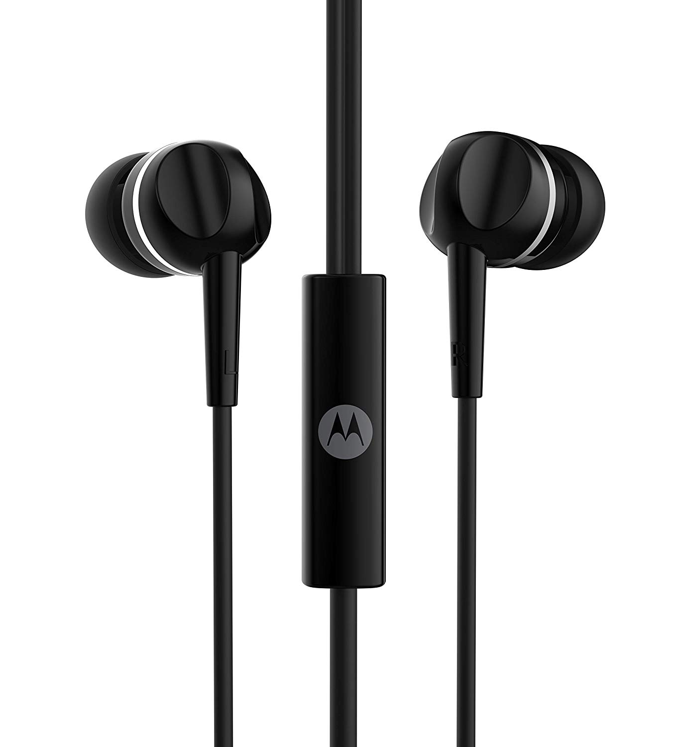 Motorola Pace 100 with Google Assistant Wired Headset with Mic (Black, In the Ear)