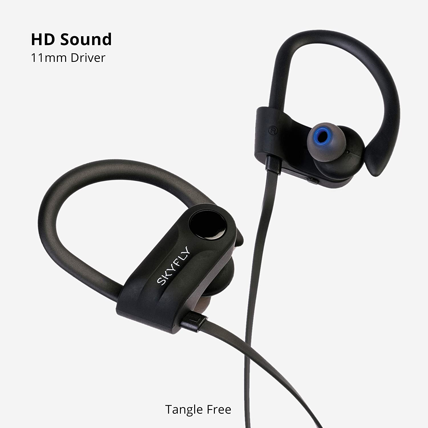 Skyfly Cruze A2 Sports Earphone with BT 5.0 || Free Elegant Hard Carry Case || IPX5 - Sweat Proof and Water Resistant || Bluetooth earphones with HD Stereo sound and Extra Bass || Wireless Earphone with Mic for hands free calling