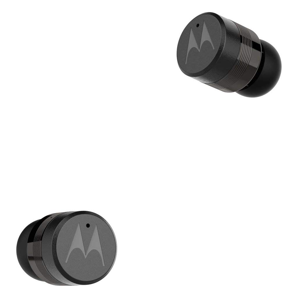 Motorola Verve Buds 110 (TWS) True Wireless Compact Water-Resistant Earbuds with Mic & Alexa (Black)