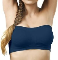 Pretty Girl Women's Strapless Invisible Tube Bra Navy Blue (Free Size)