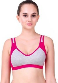Women's Low Impact Cotton Sports Bra - Non-Padded & Wirefree