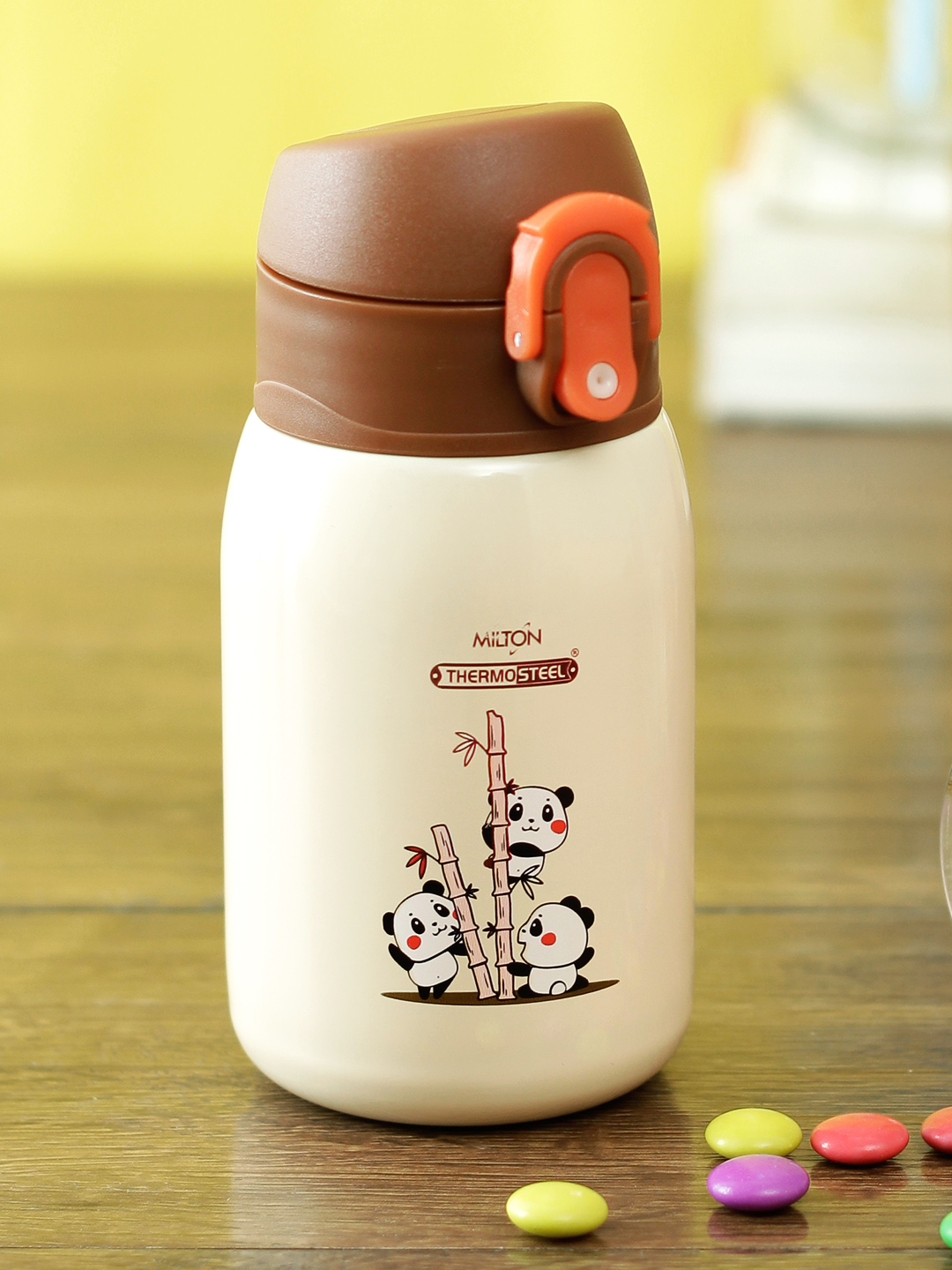 Milton Jolly 275 THERMOSTEEL WATER SIPPER BOTTLE BROWN, 230 ml