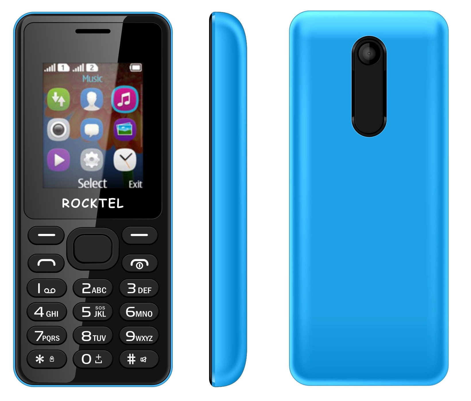 "ROCKTEL W12 DUAL SIM MOBILE PHONE 1.8"""" DISPLAY 800 mAh BATTERY"