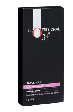O3+ Brightening Black Mask for Instant Skin Whitening and Purifying Suitable for All Skin Types (5g x 2)