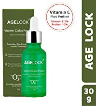 O3+ Agelock Vitamin C Protein Serum Antioxidant Anti-ageing Fine Lines ; Wrinkle Removal Skin Smoothing