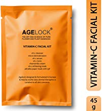 O3+ Agelock Vitamin-C Facial Kit for Pore Cleansing- Brightening ; Whitening Effects