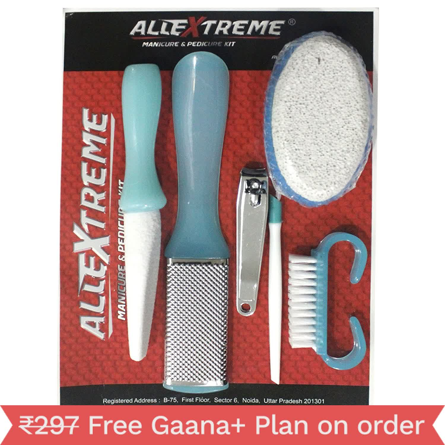 AllExtreme Manicure & pedicure handy kit | Awesome packaging and easy to carry Grooming Traveling and Home Accessories Kit (Pack of 6)