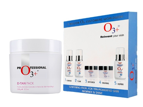 O3+ Whitening Facial Kit With D-Tan Pack, 300g