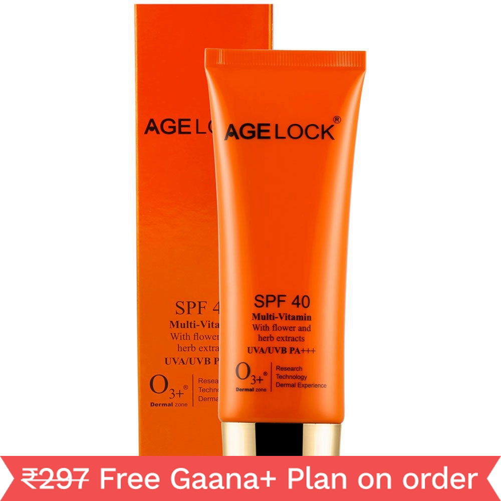 O3+ Agelock SPF 40 Multi-Vitamin with Flower and Herb Extracts (75gm)