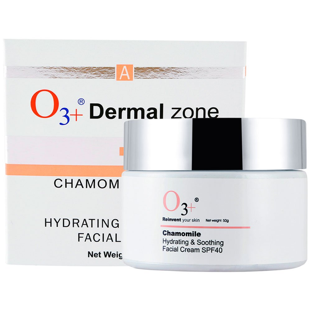 O3+ Chamomile Hydrating & Soothing Facial Cream SPF 40, 50g
