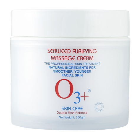 O3+ Seaweed Purifying Massage Cream with Vitamins and Minerals for Skin Brightening and Oil Control, 300g