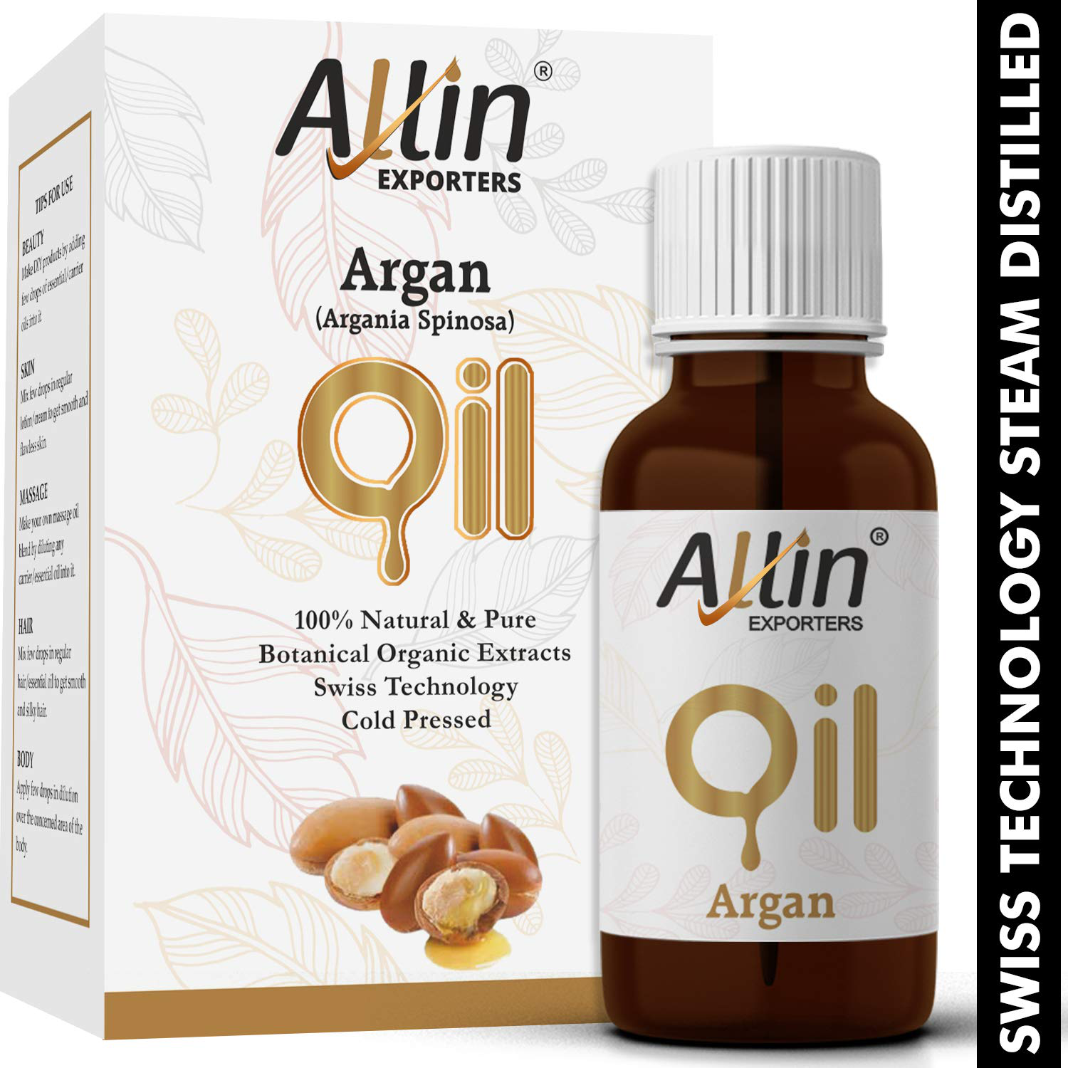 Allin Exporters Cold Pressed Argan Oil, 15ml