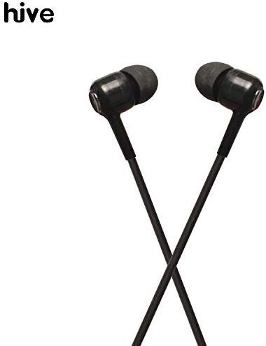 Hive I-19B 3.5Mm Wired Earphone With Mic In-Ear Earbuds Stereo Bass Headphone For Mobile And Laptop (Black)