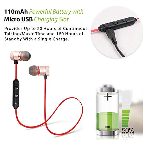 Mmak Mk-100 Wireless Neckband Stereo Earphone Bluetooth Headphone With Mic For Smartphone And Android Mobile Phones (Random Colour)