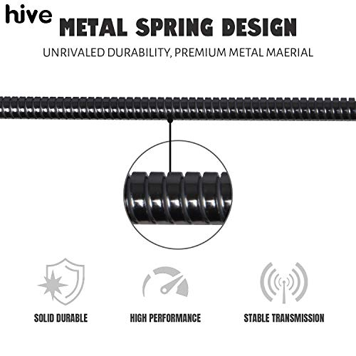 Hive Hv561-I7 Metal Braided Lightening To Usb Cable For Fast Charging And Data Transfer (3.3 Feet, Black)