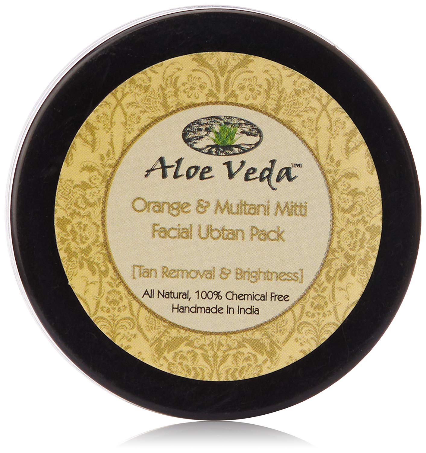 Aloe Veda Orange & Multani Mitti Ubtan (Tan Removal & Brightness)