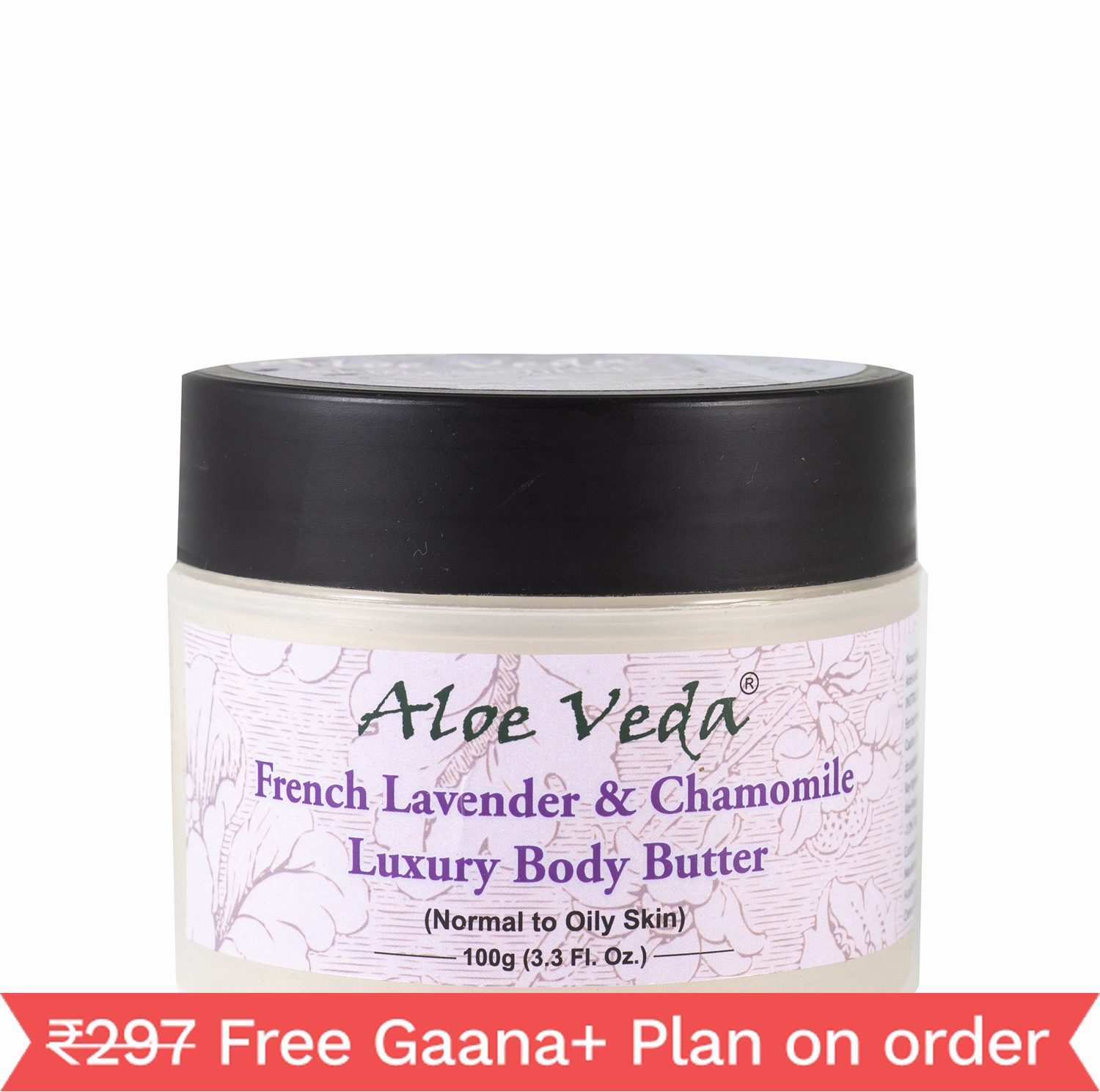 Aloe Veda Luxury Body Butter - French Lavender (100gm)