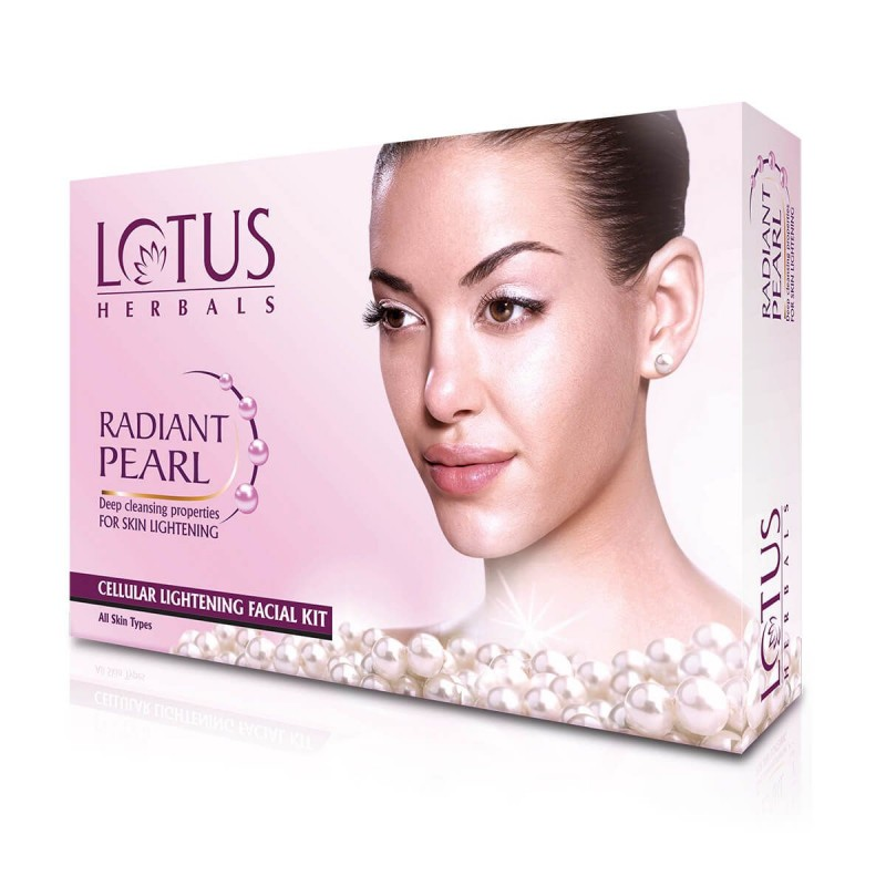 Lotus Herbals Radiant Pearl Cellular Lightening Single Facial Kit