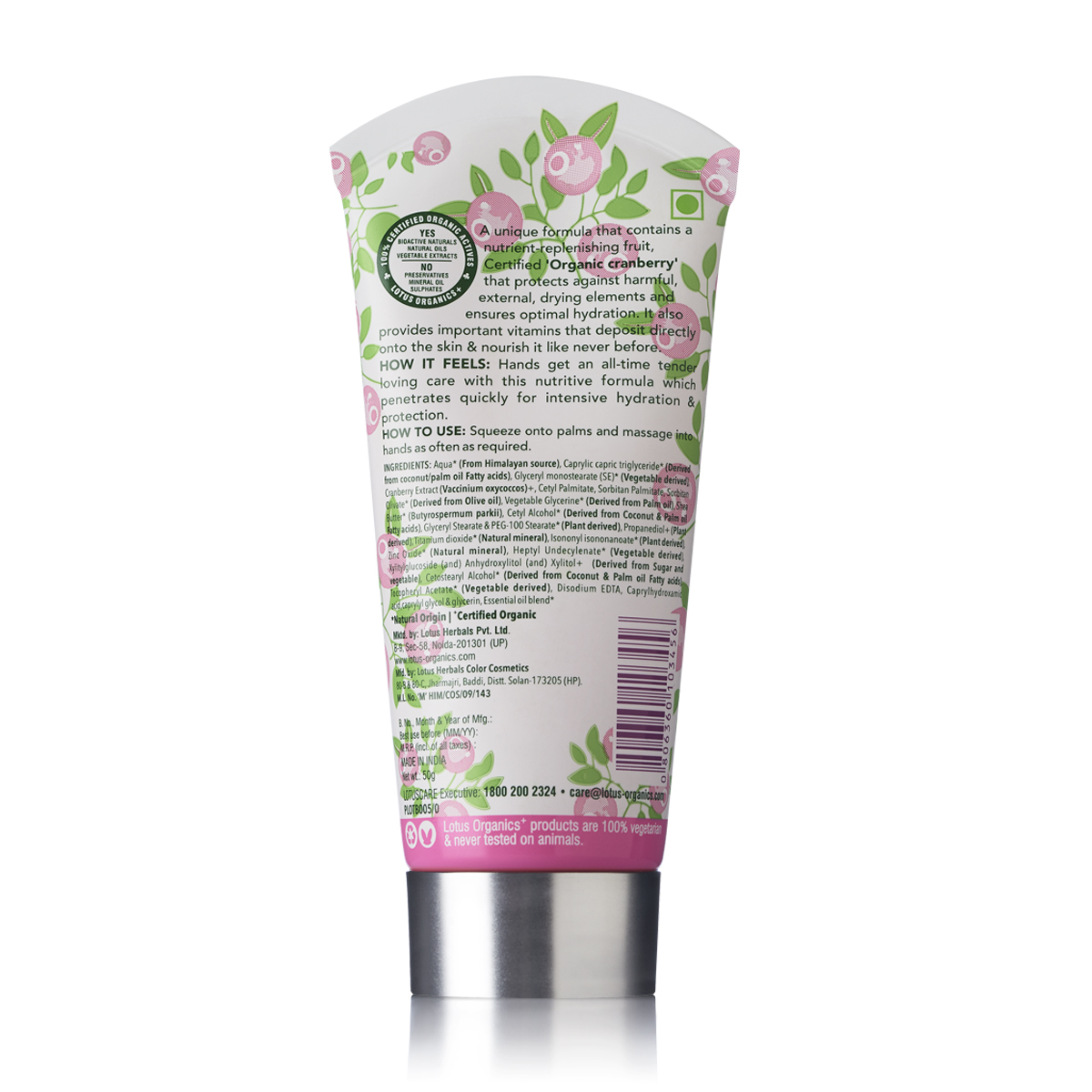 Lotus Organics Eternal Comfort Hand Cream (Green Tea)