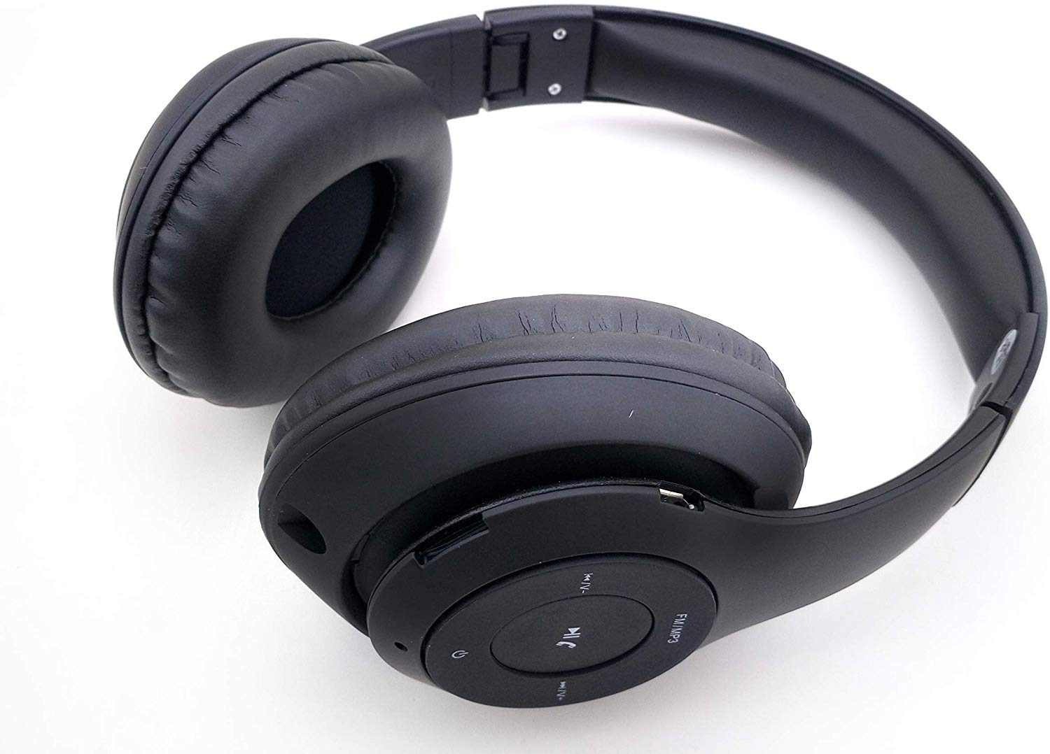Adcom Shuffle Over-Ear Wireless Bluetooth Headphones with Built-in Mic, Deep Bass & Passive Noise Cancellation (Black)