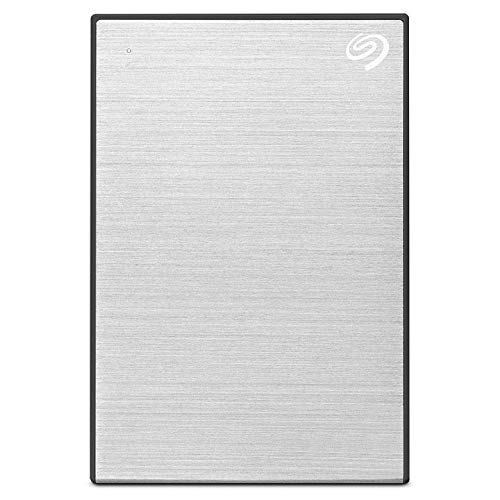 Seagate Backup Plus 5 TB External Hard Drive Portable HDD ??????? Silver USB 3.0 for PC Laptop and Mac, 1 Year Mylio Create, 2 Months Adobe CC Photography (STHP5000401)