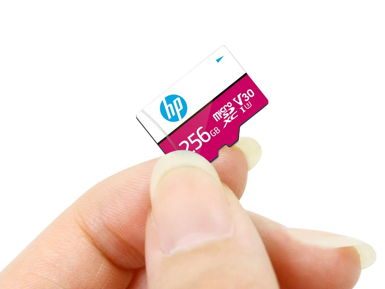 HP Micro SD Card 256GB with Adapter U3 V30 (Pink) (Write Speed 85MB/s & Read Speed 100 MB/s Records 4K UHD and Fill HD Video)