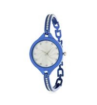 New Watch Blue Shed Bracelet Type New Watch New Silver Bracelet Type Watch For Princess Girls Analog Watch