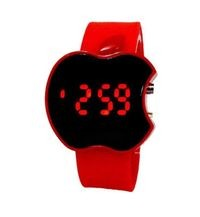 Marvelous Black Dial & Red Silicone Strap Watch for Girls & Women