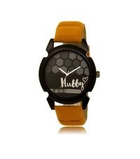 Lovely Black Dial & Brown Strap Analog Watch for Girls & Women