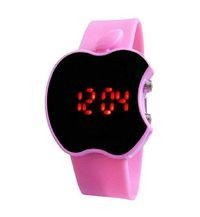 Magnificent Black Dial & Pink Silicone Strap Watch for Girls & Women