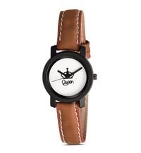 New Stylish Queen Dial Watch Color Brown for Women & Girls Watch Analog Watch