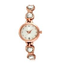 Exclusive Choice Diamond Studded Rose Gold Chain Strap Analog Watch