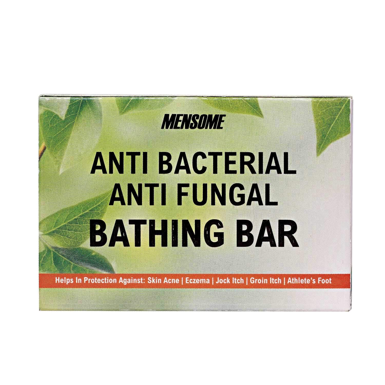 MENSOME Anti Bacterial Bathing Soap Bar Helps in Fighting Skin Infections, Acne, Itching and made up of natural oils and herbs in Pack of 12
