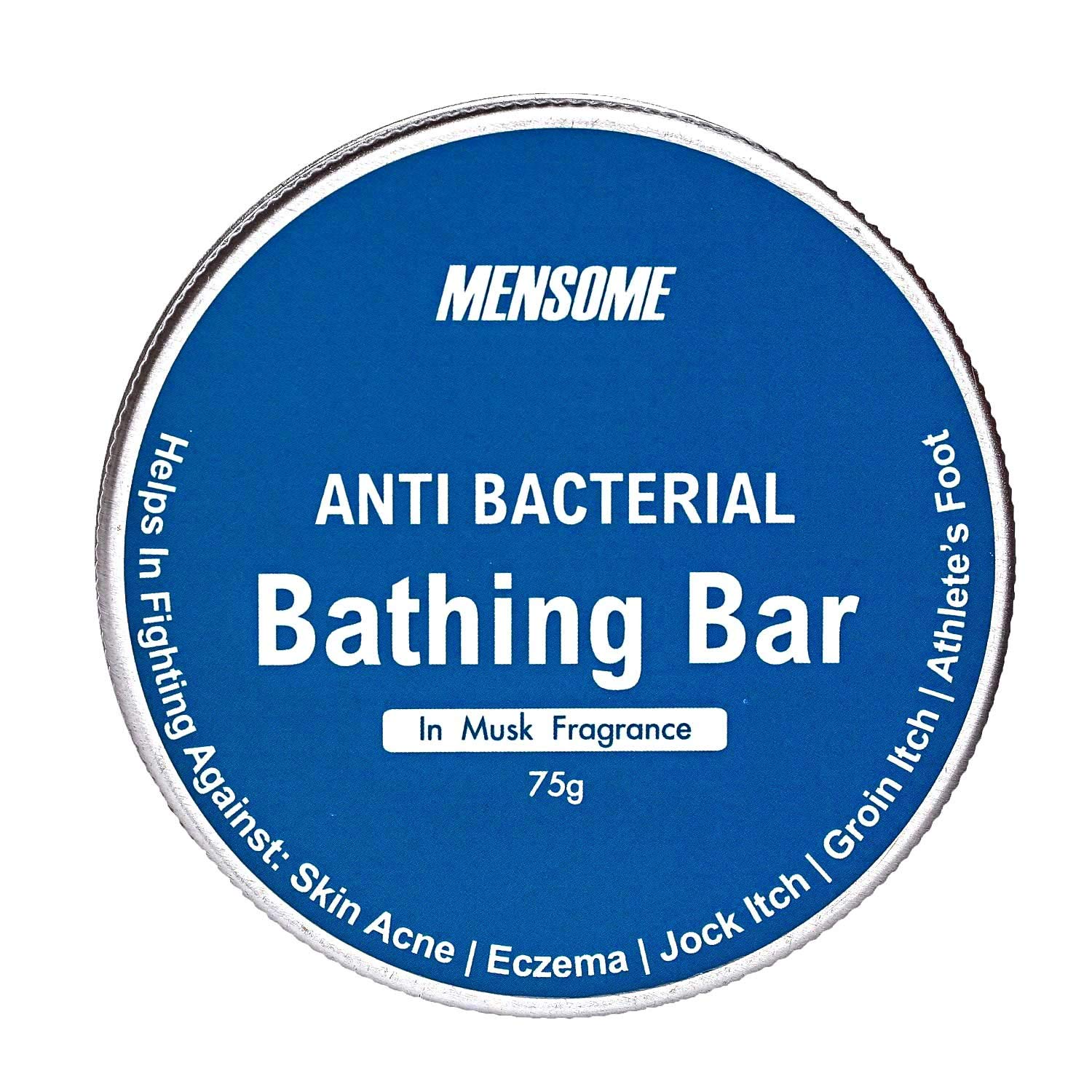 MENSOME Anti Bacterial Bathing Soap Bar Helps in fighting Skin Infections, Acne, Itching and made up of natural oils and herbs in Pack of 3(Musk Fragrance)