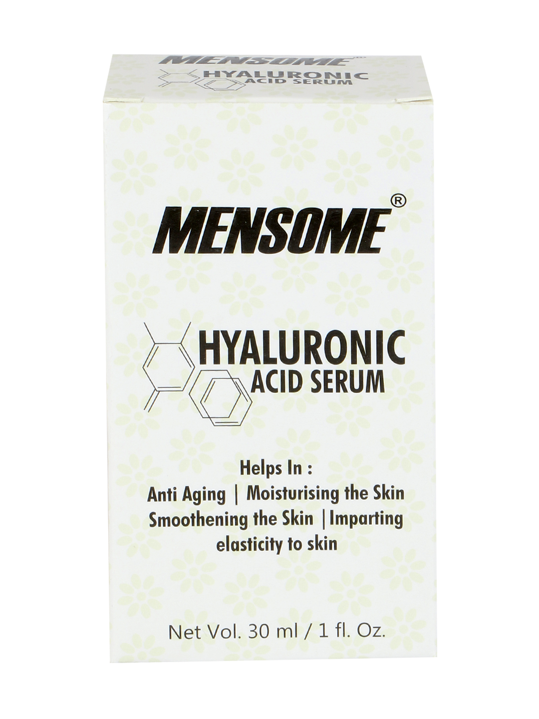 MENSOME Vegan Hyaluronic Acid For Anti Ageing, Elasticity To Skin, Moisture To Skin And Skin Smoothing Serum In 30 Ml