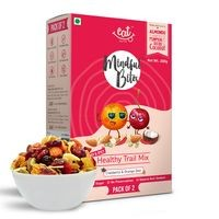 EAT Anytime Healthy Trail Mix with Cranberries & Orange Zest - Dry Fruit, Tropical Fruits & Nuts, 200g (Pack of 2x100g)