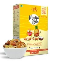 EAT Anytime Healthy Trail Mix with Papaya & Pineapple - Dry Fruit, Tropical Fruits & Nuts, 200g (Pack of 2x100g)