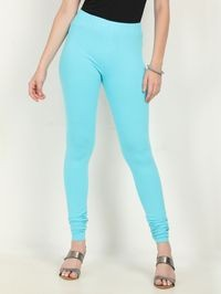 Marcia aqua Solid cotton lycra churidar Leggings