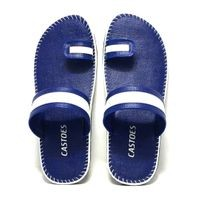 Castoes Blue Synthetic Leather Casual Slippers For Men