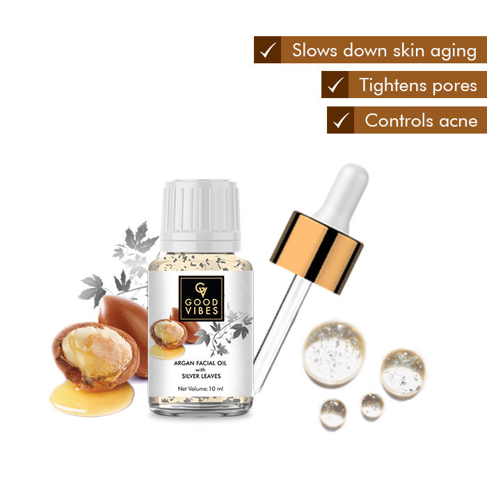 Good Vibes Argan Facial Oil with Silver Leaves (10 ml)