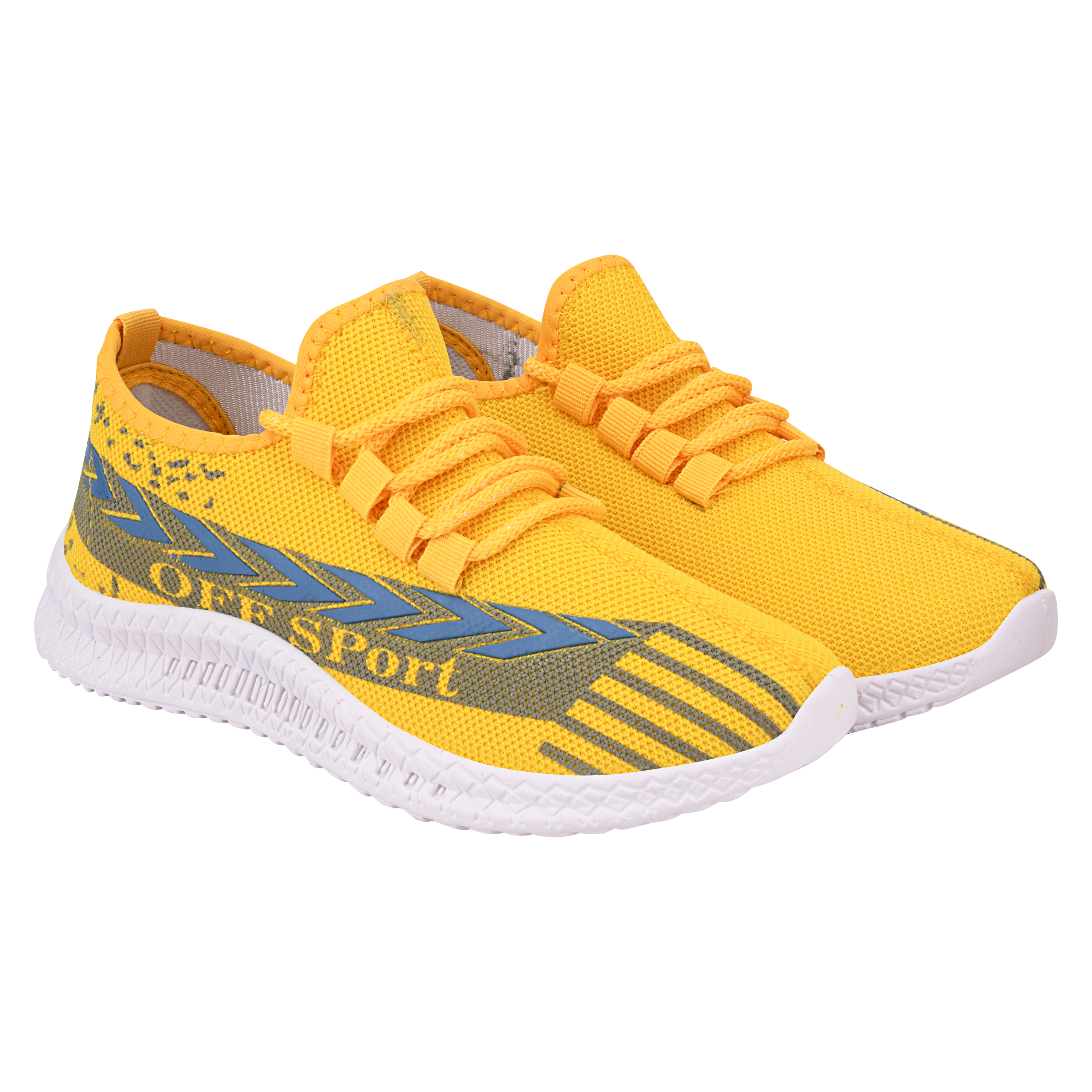 Birde Yellow Mesh Sports Shoes for Men & Boys