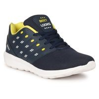 Beet Looks 2112 Navy Yellow Sports Shoes Lace-Ups