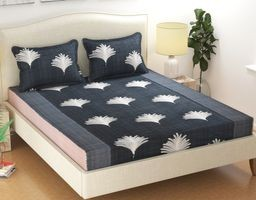 Elastic Fitted Bedsheets King Size By Akshya|Fitted Bedsheets King Size With Elastic|Bed Sheet
