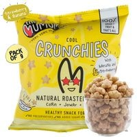 The Mumum Co. Natural Multigrain Roasted Puffs - Cool Crunchies - Strawberry Banana - Pack of 9 (20gm x 9)