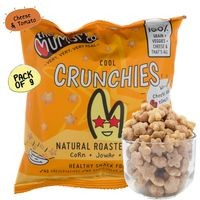 The Mumum Co. Natural Multigrain Roasted Puffs - Cool Crunchies - Cheese Tomato - Pack of 9 (20gm x 9)